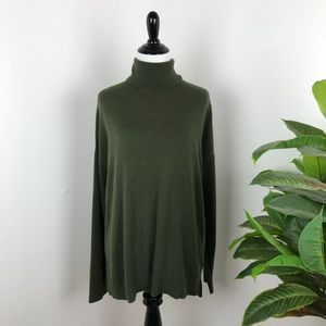 Gap olive green turtleneck sweater